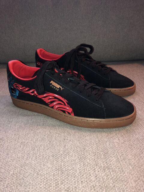 1528ba0b Puma x Santa Cruz 50th Anniversary Suede Classic 366321 Black Gum Men's  Size 10