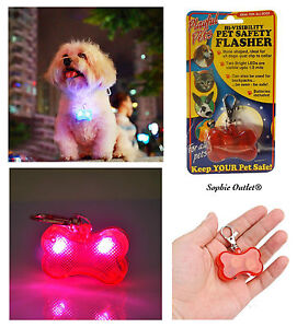 Dog-Cat-Pet-Collar-Tag-Flasher-Safety-LED-Hi-Viz-Visibility-Lead-Flashing-Light