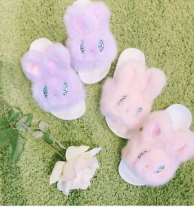 e39fa31ad595 Image is loading Lazy-Oaf-Bunny-Slippers-Esther-Loves-You-Sz-