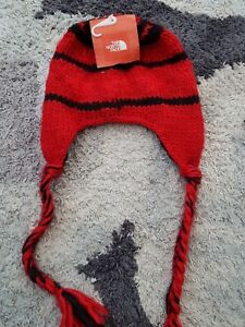 THE NORTH FACE Boulder Peruvian Beanie Hat Red - Unisex One Size  fe72db0522c