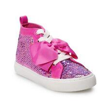 JoJo Siwa Girls High Top Reversible Sequin Sneakers Little Girl//Big Girl