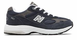 New-Balance-Kid-039-s-993v1-Big-Kids-Unisex-Shoes-Navy-with-White