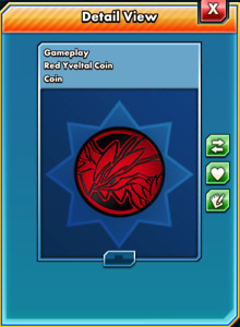 Pokemon TCG ONLINE Limited Edition Yveltal Red Coin DIGITAL CARD