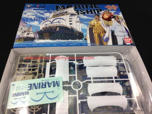 BANDAI 181585 One Piece Grand Ship Collection 07 Navy Warship Plastic Model
