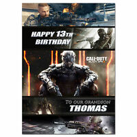 757; Personalised Birthday card; Call of Duty: Black Ops III; for any name age