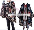 Gothic Stylish Mens Tassels Cape Slit Coat Punk Cloak Outwear womens Scarf Cloak