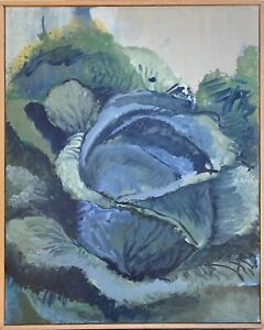 Brigitte-tietze-berlin-oil-painting-still-life-cabbage-3-organic-vegetables