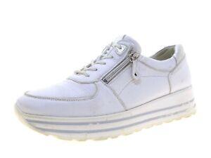 Waldläufer Damen Schuhe Sneaker Laufschuhe Schnürschuhe Gr 41 Weiß Leder
