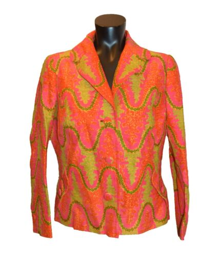 Star of Siam Vintage 60s 70s Dayglo Multicolored S