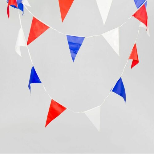 Red White Blue Bunting Union Jack Street Party Royal Decorations 40 Flags 25m
