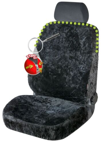 ZIPP IT Reißverschluss Autositz Felle m Webpelz einfache Montage echtes Fell