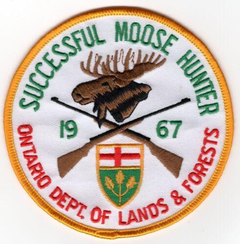 1967 Ontario Successful Moose Hunting Patch Michigan Bear Deer Turkey #2