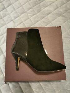 Carvela Black Suede Ankle Boots. EU37