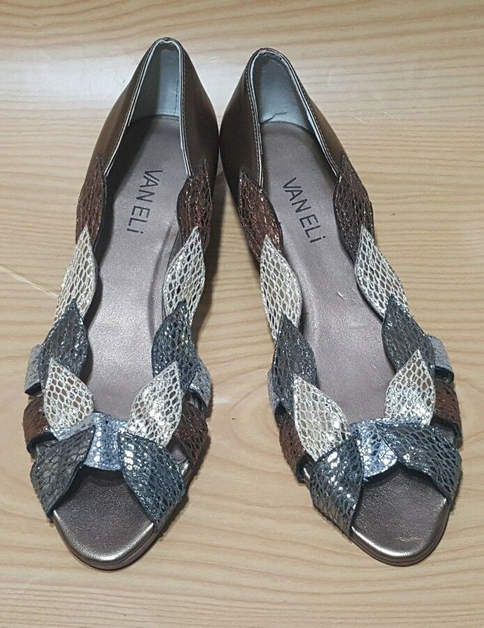 VANELI tacón bajo para mujer Puntera abierta de ballet 6.5 Resbalón en Zapatos Talla 6.5 ballet M 156a9d