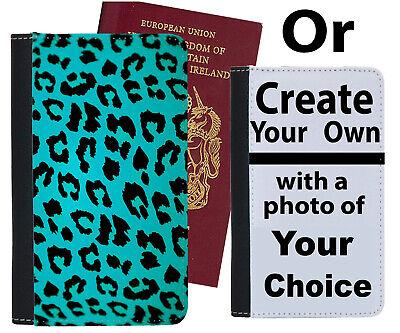 Affidabile Verde Scuro Turchese Leopardo Stampa Design Custodia Per Passaporto Copertura Modello C876-mostra Il Titolo Originale