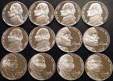 2000-2009 S Jefferson Nickel Gem DCam Proof Run 12 Coin Decade Run US Mint Lot.