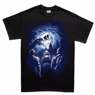 Spielberg World Classic Movie Jurassic Private Ryan E.T. Jaws T shirt Tee Top