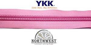 "Genuine YKK Nylon Coil Zipper Tape # 10 - 25 yards ""Rose Pink"" Extra Heavy Duty"