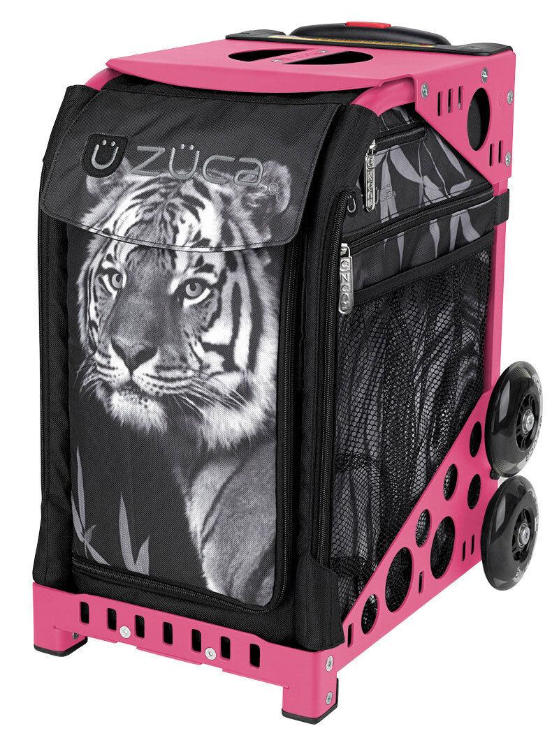 ZUCA Bag TIGER Insert & Pink Frame w Flashing Wheels - FREE SEAT CUSHION