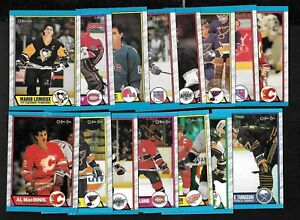 1989-90-OPC-O-PEE-CHEE-NHL-HOCKEY-CARD-AND-BOX-BOTTOM-SEE-LIST
