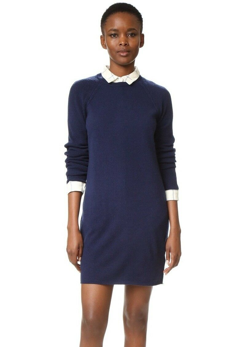 NEW Equipment Willy Mini Dress- peacoat size M  338