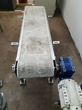 Conveyor 14 X 74 Stainless Steel Conveyor Small Flights On Belt