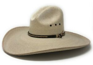 30X-Fine-Weave-Natural-Palm-Leaf-Gus-Cowboy-Hat-5-034-Brim-by-Texas-Hat-Co