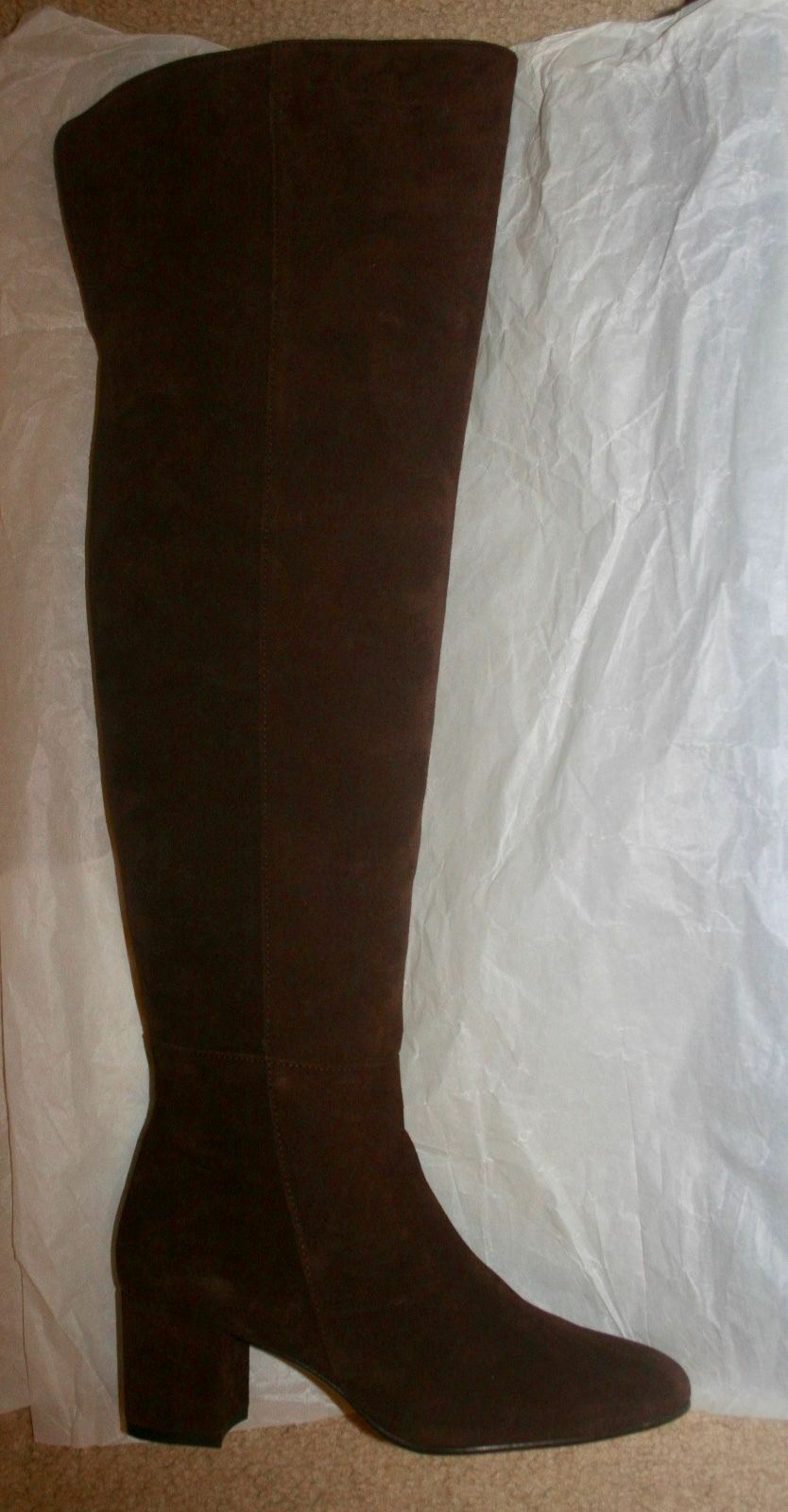 J.CREW SUEDE OVER-THE-KNEE BOOTS SIZE 6,5M DEEP MAPLE F8009