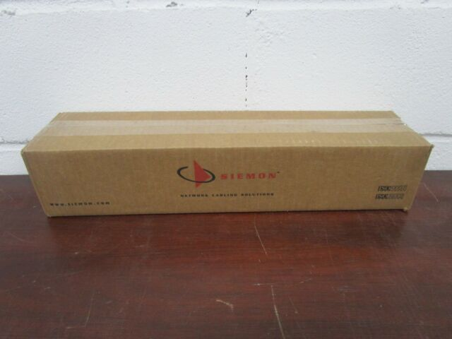 SIEMON HD5 SERIES CAT 5E 24 Port RJ-45 RACK MOUNT PATCH PANEL NEW SEE PHOTOS