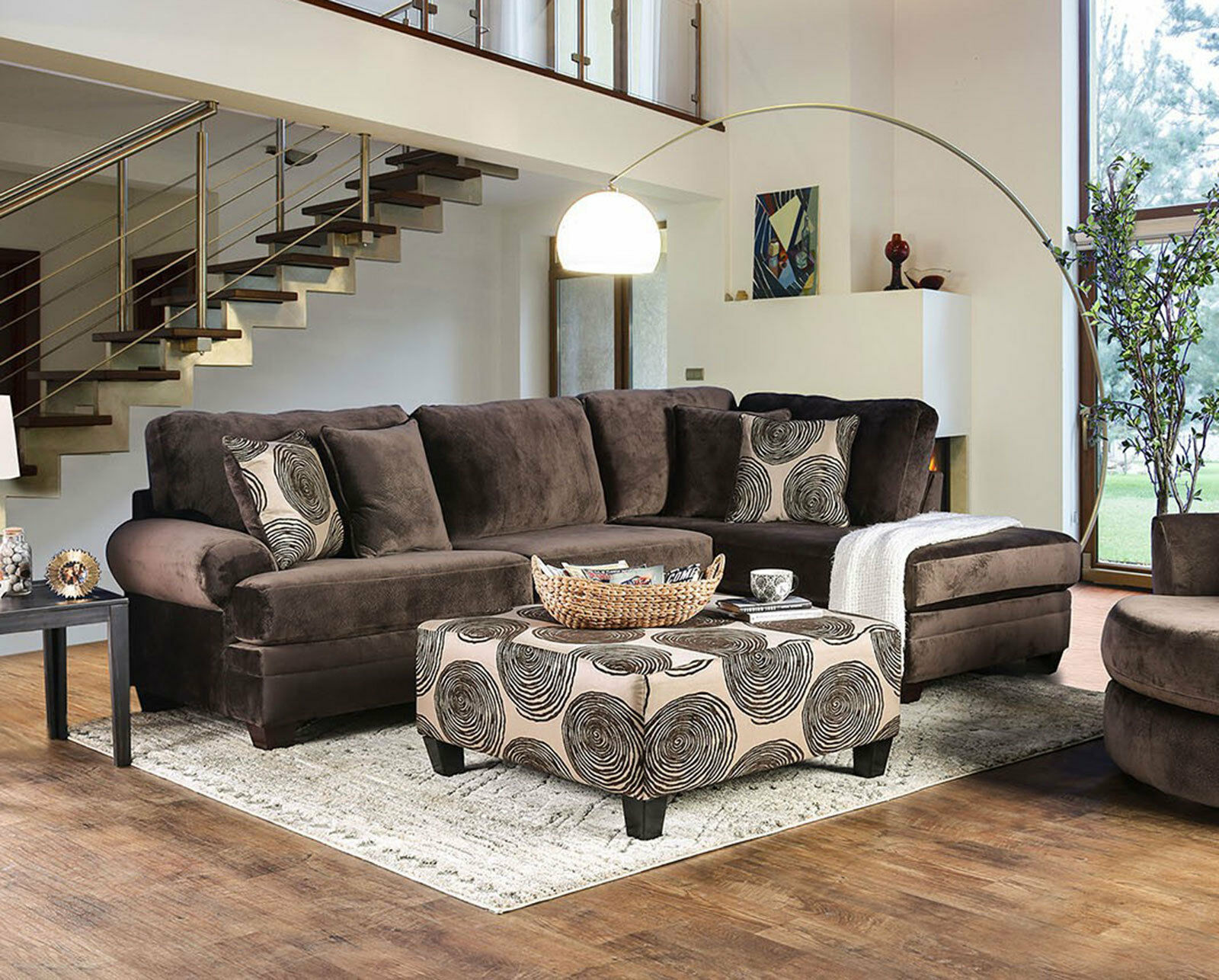 Brown Microfiber Sofa Couch