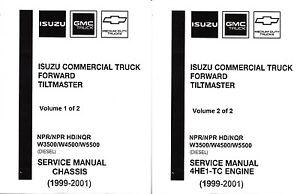 1999 2001 isuzu npr npr hd nqr gmc w3500 w5500 diesel truck repair rh ebay com Isuzu NPR Diesel Manual 1999 isuzu npr owners manual