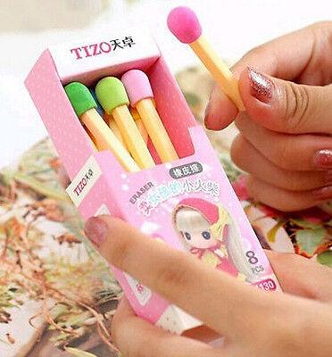 FD1775 Toddler Hood Rubber Stationery Match Pencil Eraser Toy ~1 Set / 8pcs~