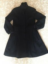 Theory Petite Wool/polyester Blend Black Coat