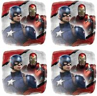 4x Captain America & Iron Man Mylar 18 Foil Balloon Party Favor Supplies Decor