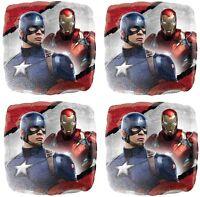 4x Captain America & Iron Man Mylar 18 Foil Balloon Party Favor Supplies Decor