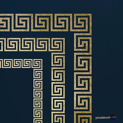 Greek Key Stencil Template Set With Corners Art Sbooking Airbrush St51a4