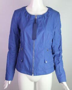 Elie Cotton Blue Jacket Tahari S Zip EqrxEwH