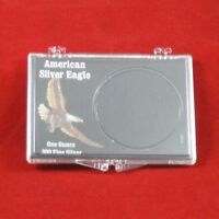 Snaplock Coin Cases Holders 1 Oz American Silver Eagles, Black, 5 Count