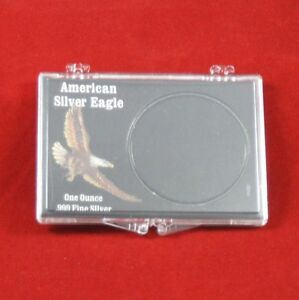 Snaplock Coin Cases Holders 1 oz American Silver Eagles Black 50 count