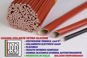 TUBO-GUAINA-ISOLANTE-VETRO-SILICONE-ALTE-TEMPERATURE-PROTEZIONE-kV-1-5-260-C