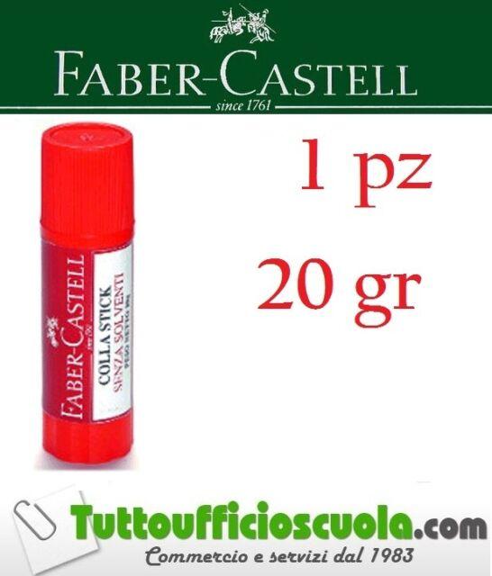 COLLA STICK FABER CASTELL 20 GR. 1 PZ UFFICIO SCUOLA ADESIVO 20GR