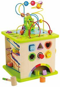 Hape Country Critters Wooden Activity Play Cube for Toddlers E1810 12 Months