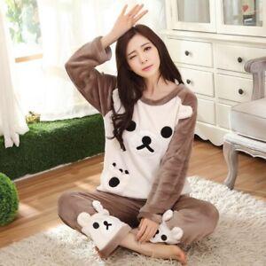 58173316c5 Image is loading Pajamas-Lolita-Korean-Printing-Cute-Sleepwear-Suit-Kawaii-
