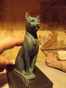 Details about Egyptian Cat Statue / Sculpture of Bast / Bastet music  goddess Joy & protection