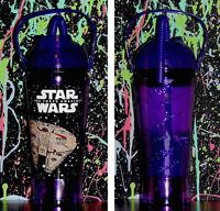 rare STAR WARS The Force Awakens DISNEY PARKS PURPLE SIPPER CUP millennium 32oz