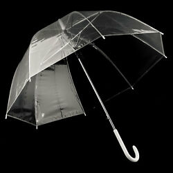 Durchsichtiger Regenschirm transparent Design Fashion Stockschirm durchsichtig