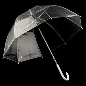 83-cm-Durchsichtig-automatik-Regenschirm-Partnerschirm-gross-stabil-sturmsicher