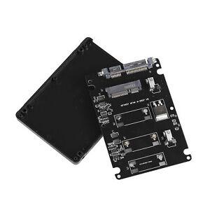 Mini-PCI-e-mSATA-SSD-to-2-5-inch-SATA-22-Pin-Adapter-Converter-Drive-Enclosure