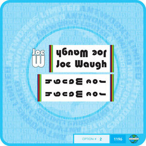 Black With White Key Line Stickers Joe Waugh Decals Transfers Set 4