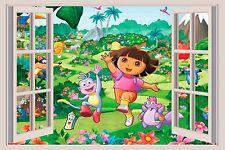 Dora the Explorer 3D Window View Decal WALL STICKER Art Mural Diego Boots 2 A1